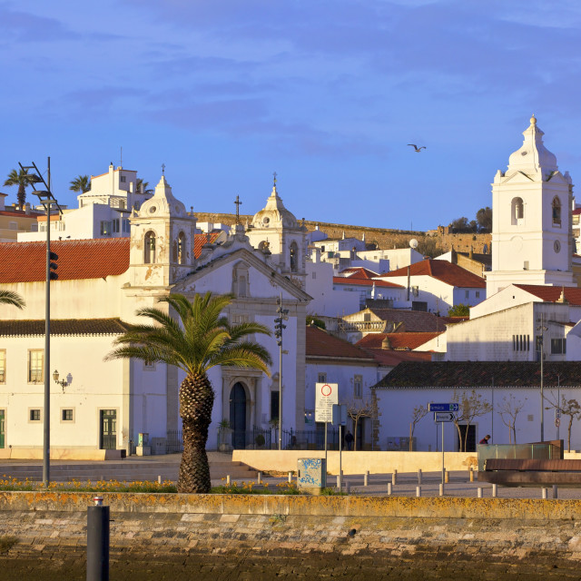 """Lagos Old Town, Lagos, Western Algarve, Algarve, Portugal, Europe"" stock image"