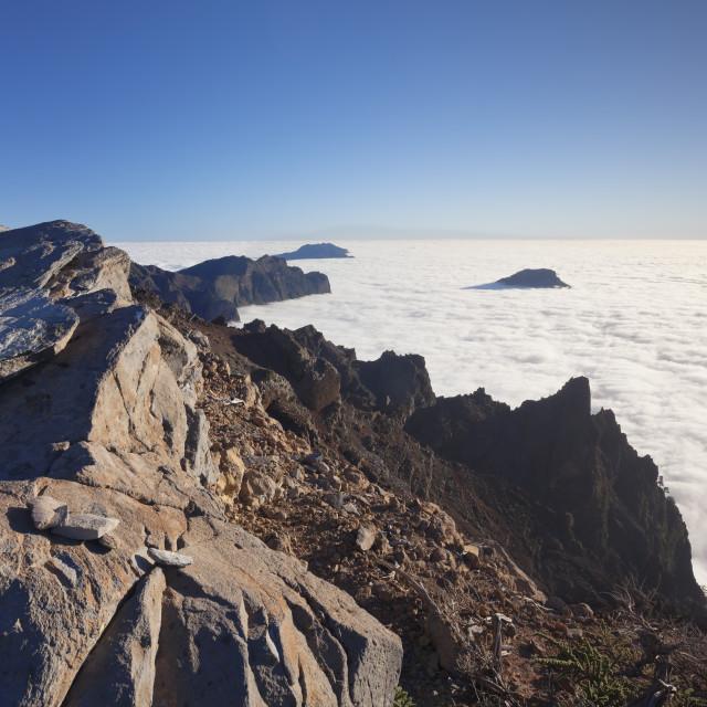 """""""Caldera de Taburiente, Parque Nacional de la Caldera de Taburiente, UNESCO..."""" stock image"""