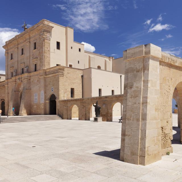 """San Maria de Finibus Terrae pilgrimage church, Santa Maria di Leuca, Lecce..."" stock image"