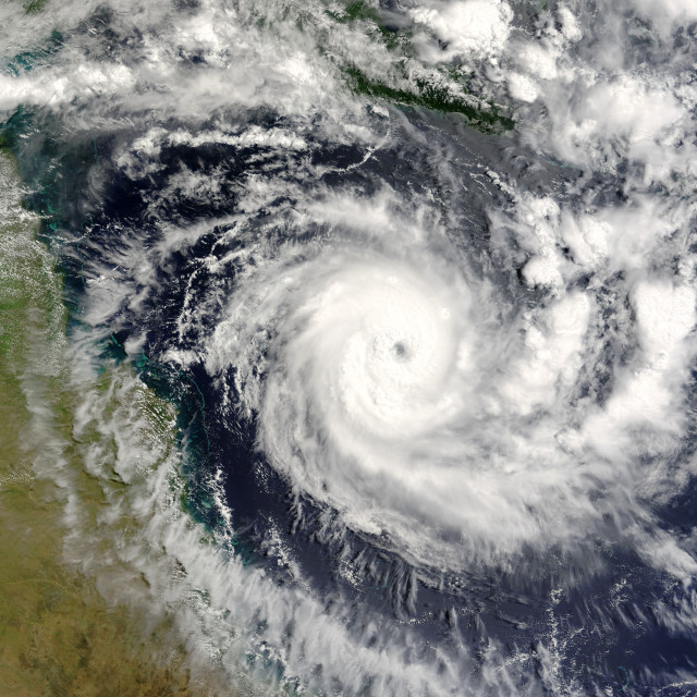 """Tropical cyclone Ingrid"" stock image"