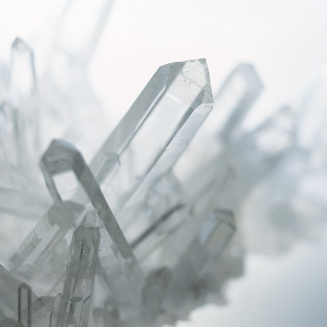 """Quartz crystals"" stock image"