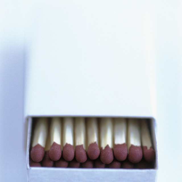 """Box of matches"" stock image"