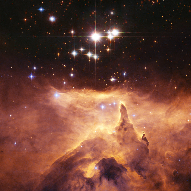"""Star cluster Pismis 24 above NGC 6357"" stock image"