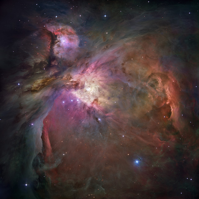 """Orion nebula (M42 and M43)"" stock image"