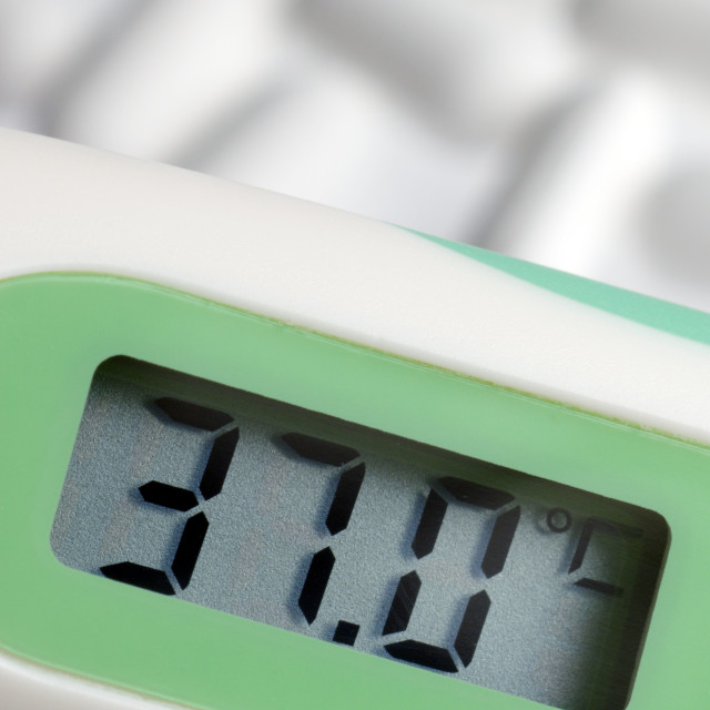"""""""Digital thermometer"""" stock image"""