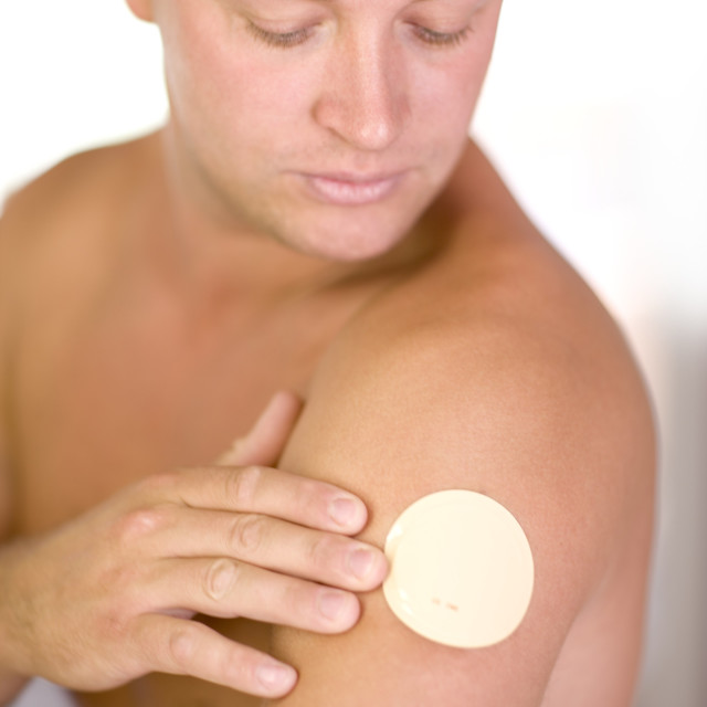 """Nicotine patch"" stock image"