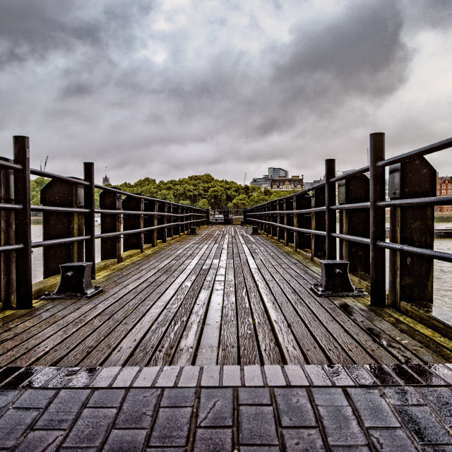 """""""Pier Over The River Thames"""" stock image"""
