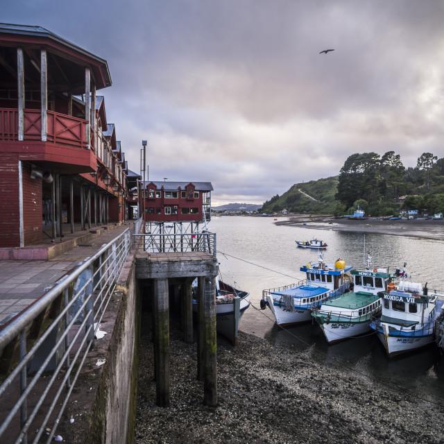 """Angelmo fish market, Puerto Montt, Chile"" stock image"