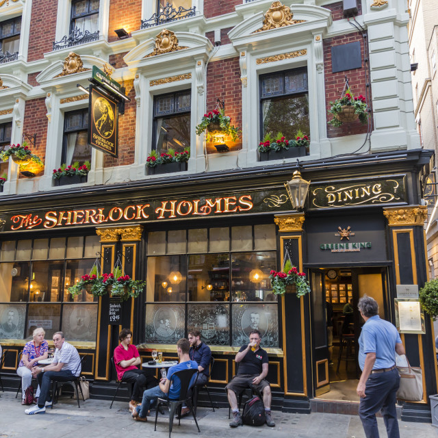 """The Sherlock Holmes Pub in central London, England, United Kingdom, Europe"" stock image"
