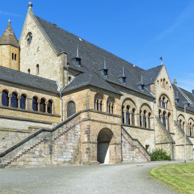 """Imperial Palace (Kaiserpfalz), Goslar, Harz, Lower Saxony, Germany, Unesco..."" stock image"