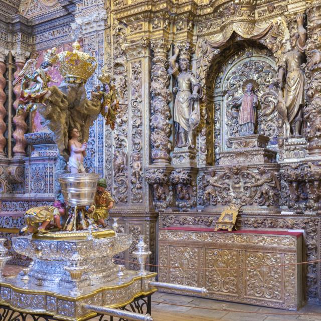 """""""St. John the Evangelist Altar, Convento de Nossa Senhora da Conceicao (Our..."""" stock image"""
