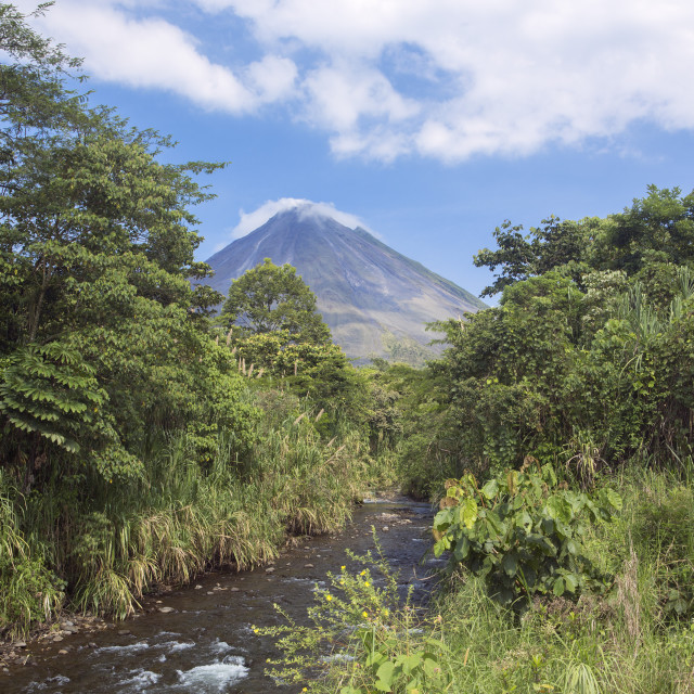"""Arenal volcano, Alajuela, La Fortuna"" stock image"