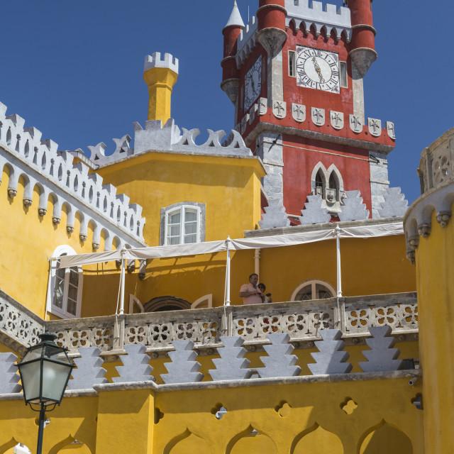 """""""Colors and decoration of the romanticist castle Palacio da Pena, UNESCO World..."""" stock image"""