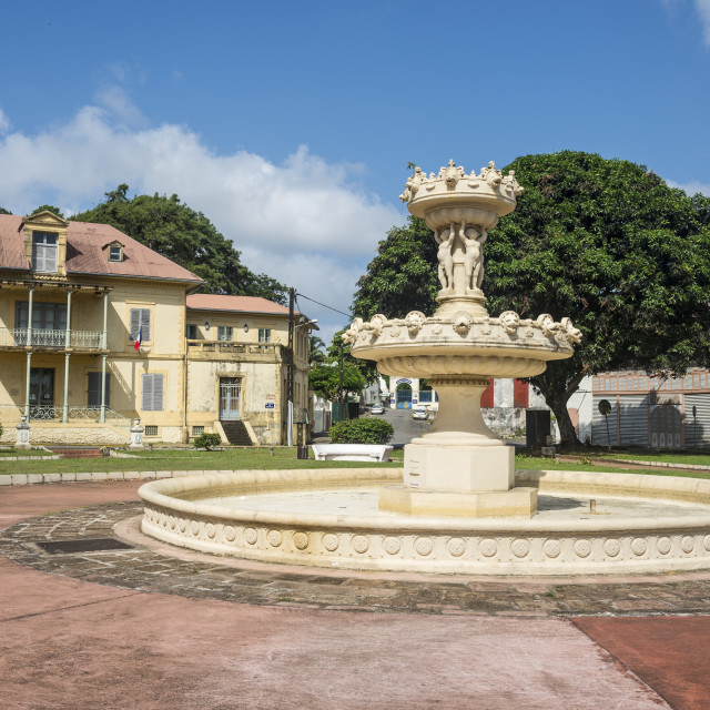 """""""Colonial quarter of Cayenne, French Guiana, Department of France"""" stock image"""