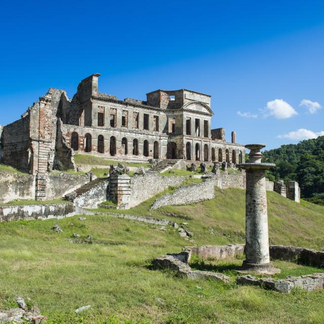 """""""Unesco world heritage Palace Sans Souci, Haiti, Caribbean"""" stock image"""
