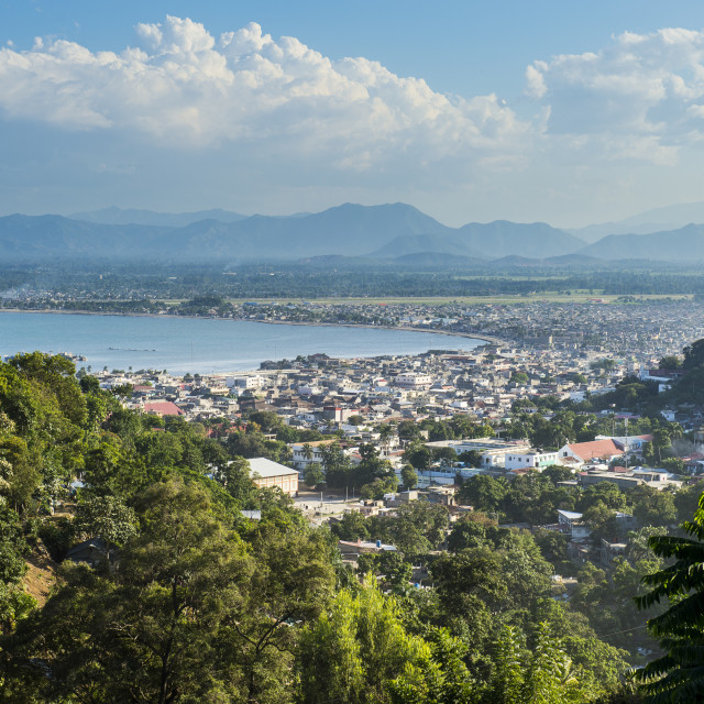"""Overlook over Cap Haitien, Haiti, Caribbean"" stock image"