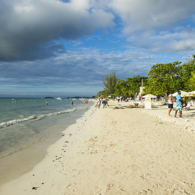 """Seven mile beach, Negril, Jamaica"" stock image"