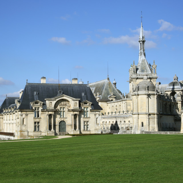"""Chateau de Chantilly, Oise, France."" stock image"