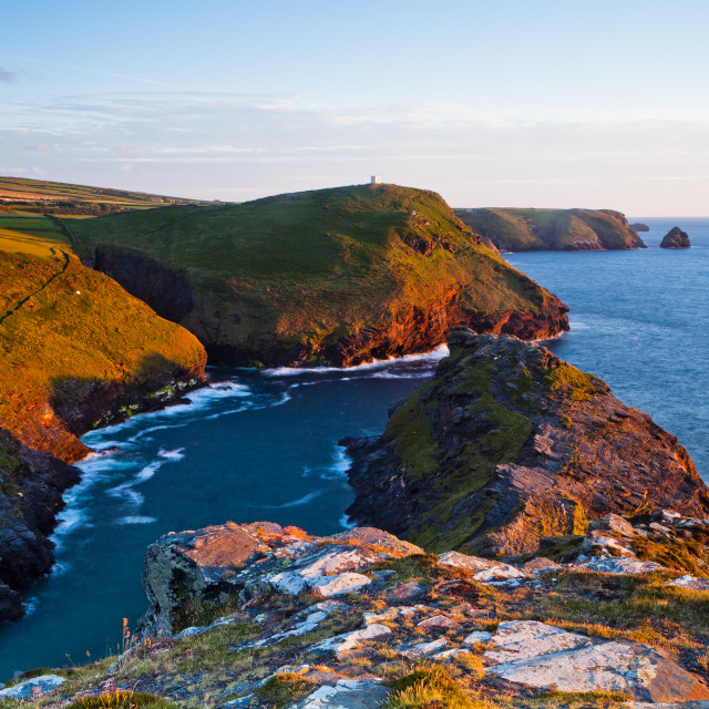"""Boscastle, Cornwall, United Kingdom"" stock image"