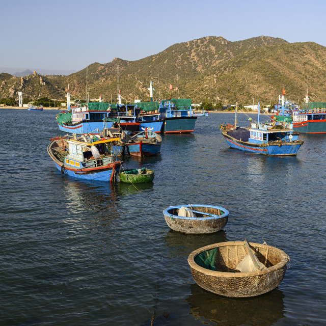 """The fishing port, Phan Rang, Ninh Thuan province, Vietnam, Indochina,..."" stock image"