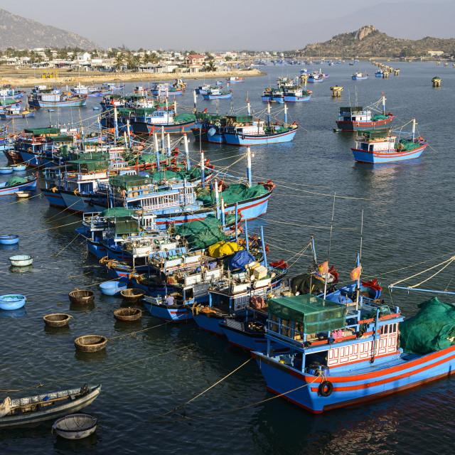 """The fishing port, Phan Rang, Ninh Thuan province, Vietnam, Indochina,..."" stock image"