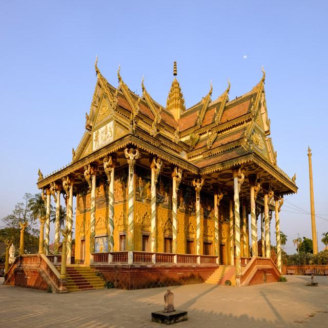 """Vat Kor temple, Battambang, Battambang province, Cambodia, Indochina,..."" stock image"