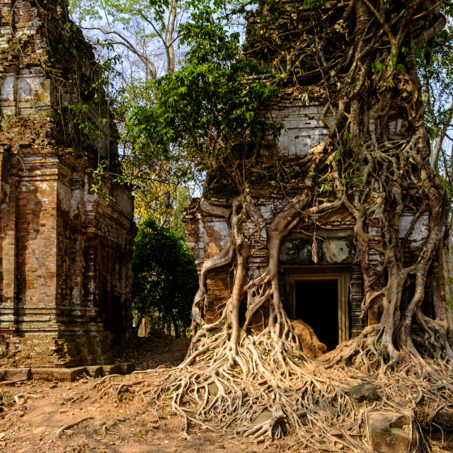 """Temple of Prasat Pram (Prasat Bram), dated 9th to 12th century, temple..."" stock image"
