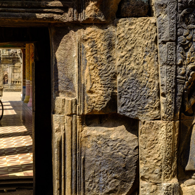 """""""Vat Nokor, Angkorian sanctuary dated 11th century, Kompong Cham (Kampong..."""" stock image"""
