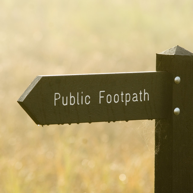 """""""footpath sign"""" stock image"""
