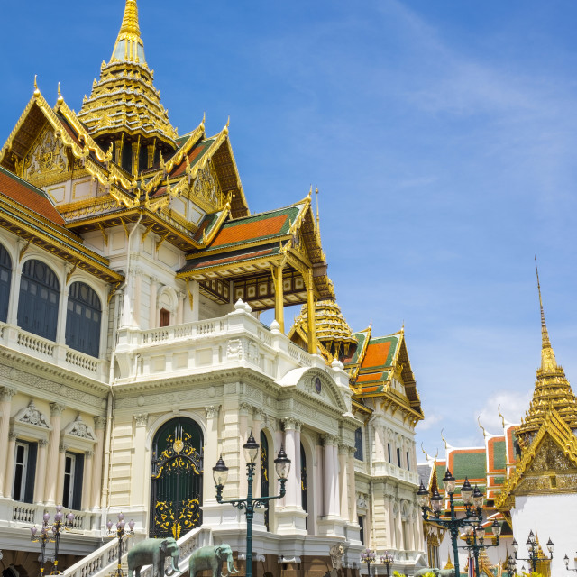 """""""Phra Thinang Chakri Maha Prasat throne hall, Grand Palace complex, Bangkok,..."""" stock image"""