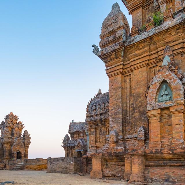 """Po Klong Garai temple, 13th century Cham towers, Phan Rang-Thap Cham, Ninh..."" stock image"
