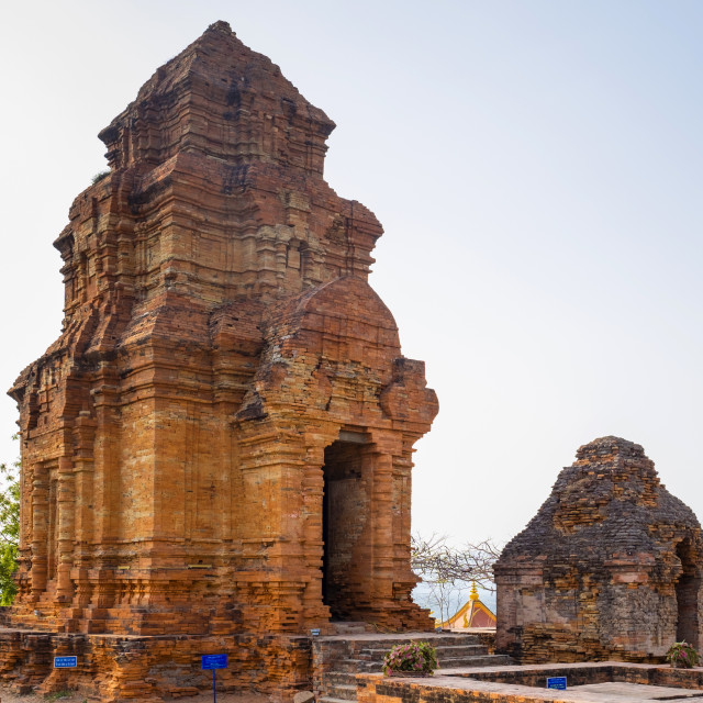 """Thap Po Sah Inu temple, 15th century Cham tower ruins at Phan Thiet, Binh..."" stock image"