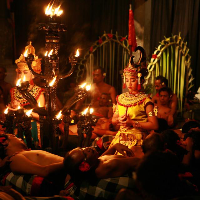 """""""Kecak Dance, Ubud, Bali, Indonesia"""" stock image"""