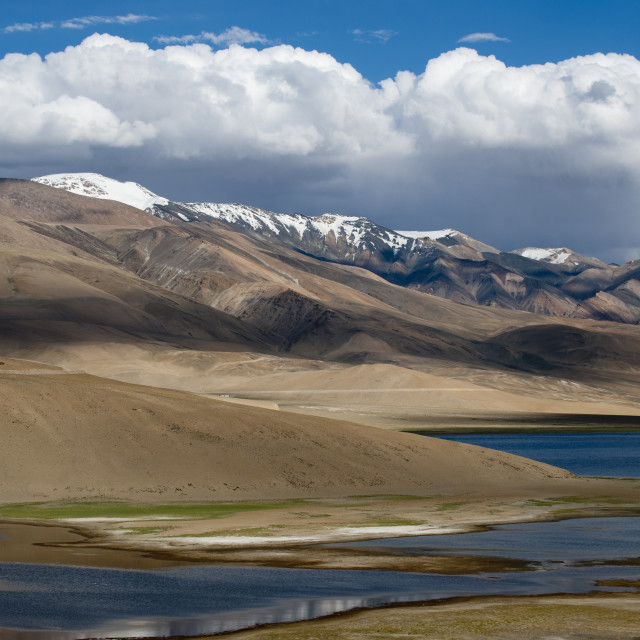 """""""Tso Moriri lake in the Himalayan region of Ladakh in north India is at an..."""" stock image"""