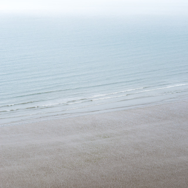 """Rhossili Bay on The Gower in south Wales in England"" stock image"