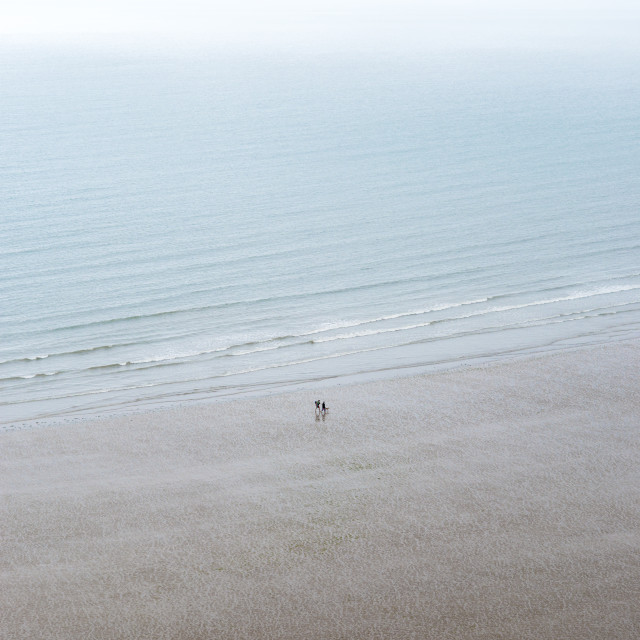 """Rhossili Bay on The Gower in south Wales"" stock image"