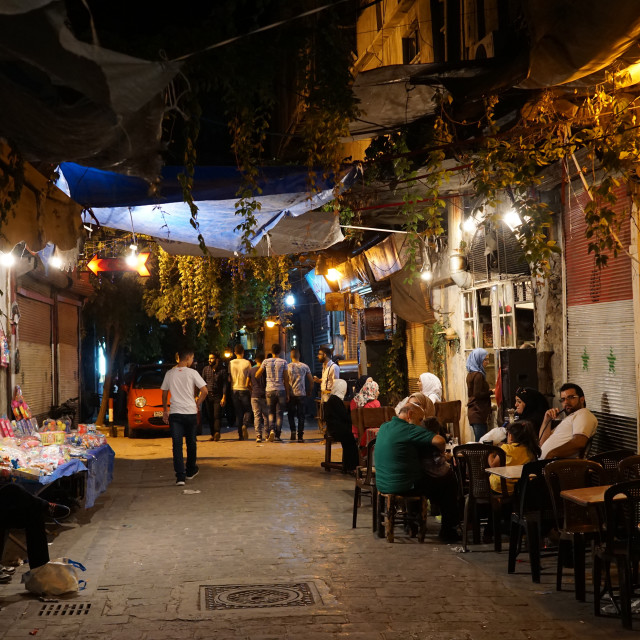 """Bab Touma neighbourhood of Damascus old city, Syria"" stock image"