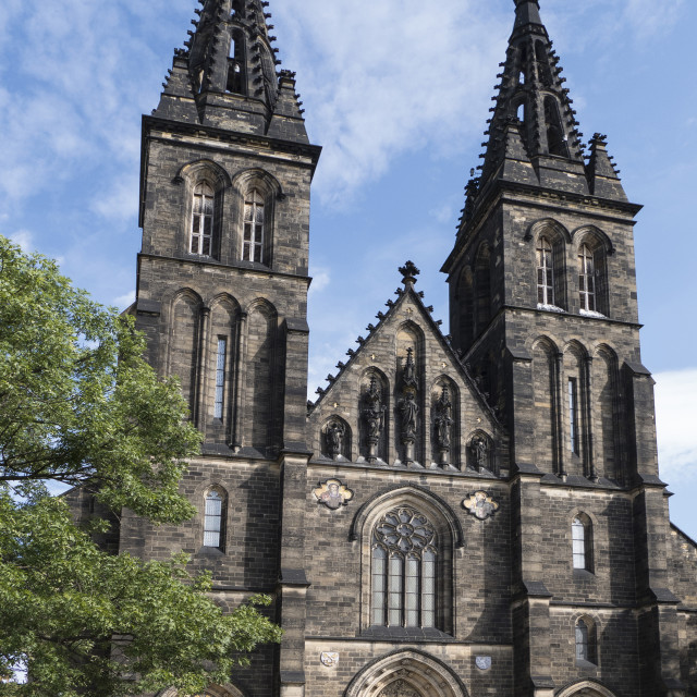 """Sts. Peter & Paul church, Vysehrad, Prague, Czech republic"" stock image"