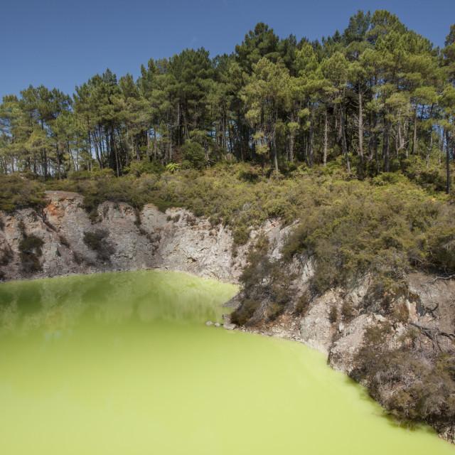 """The Devil's Bath, Waiotapu Goethermal Wonderland"" stock image"