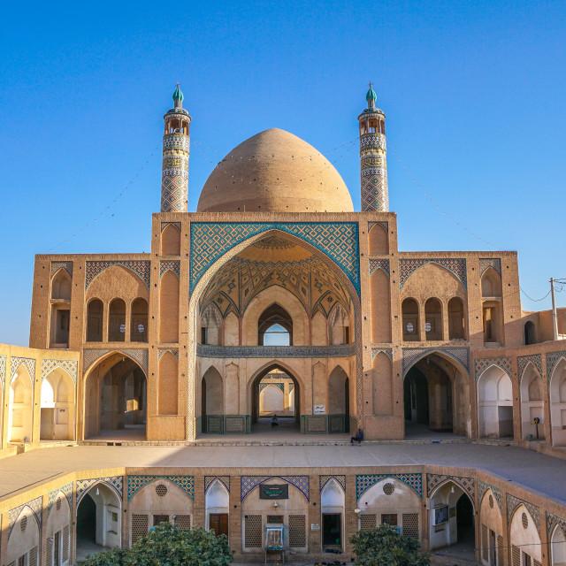 """Agha Bozorg Mosque, Kashan, Iran"" stock image"