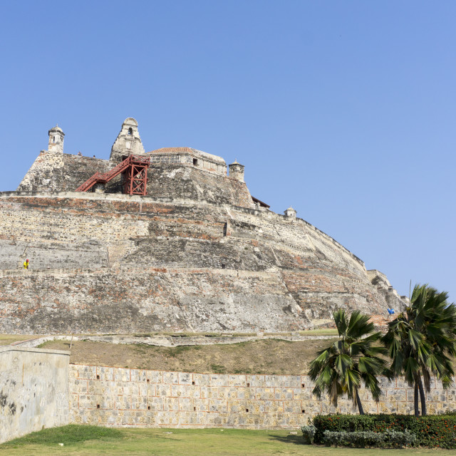 """fort san felipe, cartagena"" stock image"
