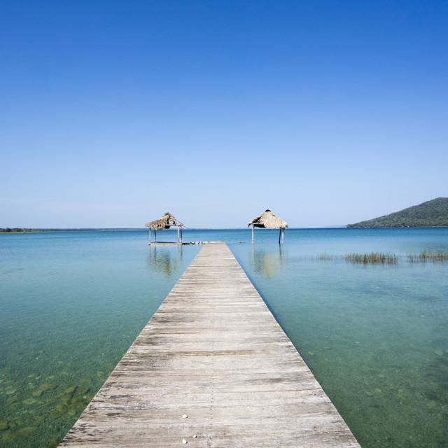 """""""Lago Peten Itza, el Remate"""" stock image"""