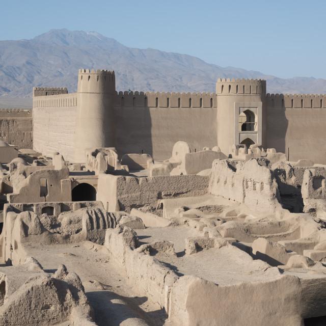 """Desert citadel. Rayen. Iran."" stock image"