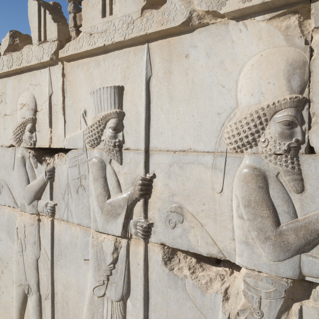 """Persepolis archeological site. Iran."" stock image"