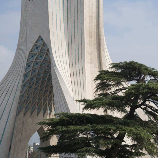 """Azadi tower. Tehran. Iran."" stock image"