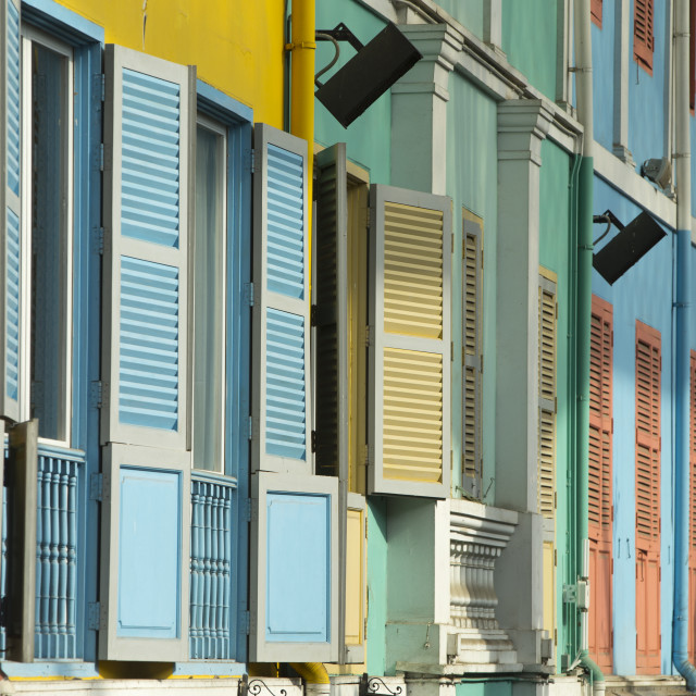 """""""Shutters at Clarke Quay Singapore"""" stock image"""