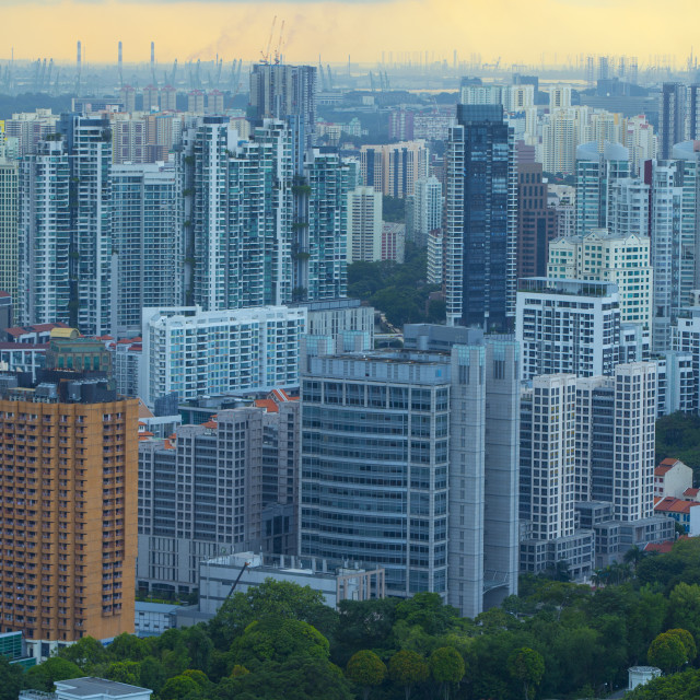 """High Rise Apartments in Singapore"" stock image"