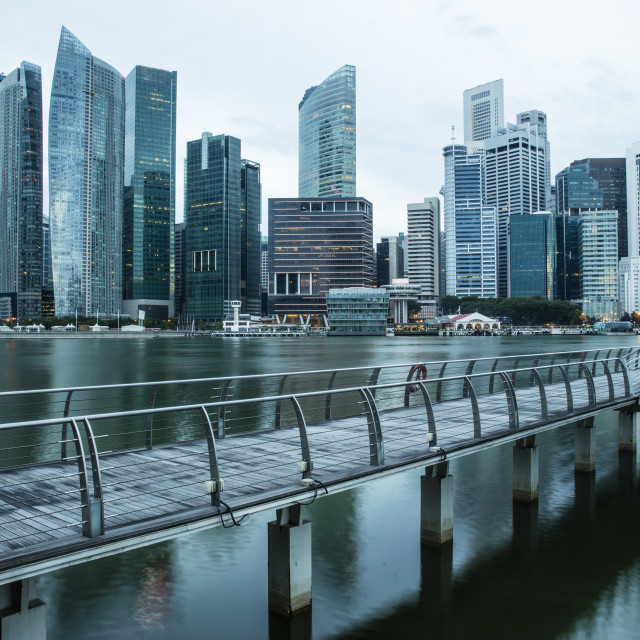 """Financial District Singapore"" stock image"