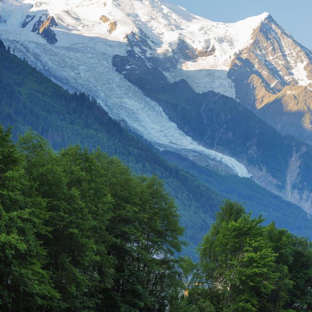 """""""Europe, France, Haute Savoie, Rhone Alps, Chamonix, Chamonix trail running..."""" stock image"""