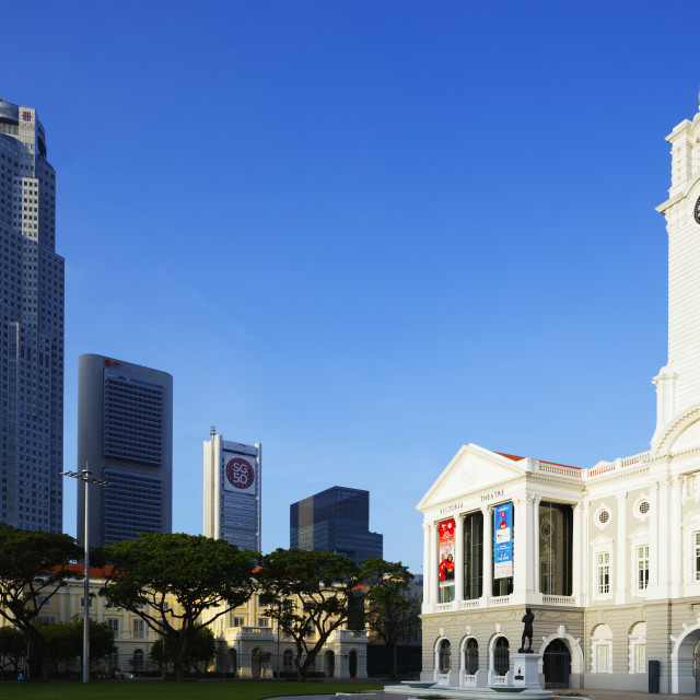 """South East Asia, Singapore, Victoria Theatre & Concert Hall"" stock image"
